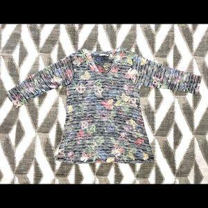 Soft Surroundings Bontanique Tunic Floral Knit Top
